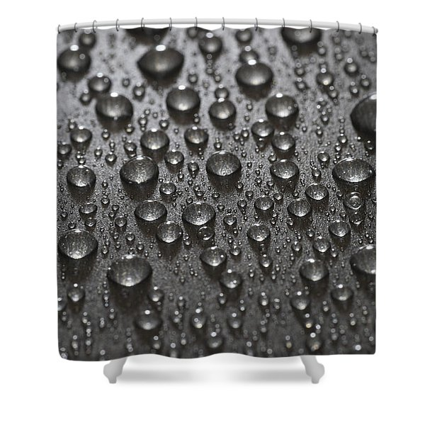 Water Drops Shower Curtain by Frank Tschakert
