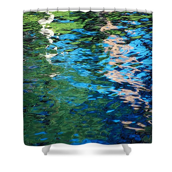 Water Reflections Shower Curtain by Bill Brennan - Printscapes