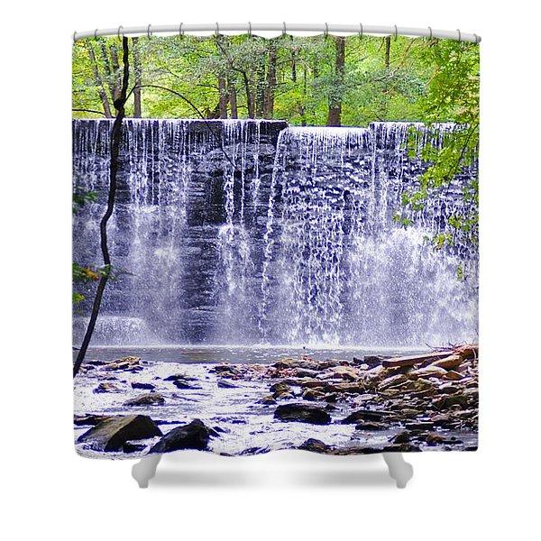 Waterfall In Gladwyne Shower Curtain by Bill Cannon