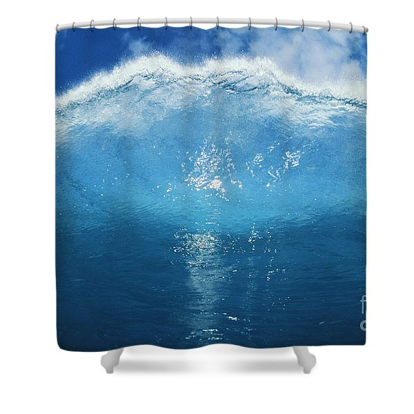 Wave Tube Shower Curtain by Ali ONeal - Printscapes
