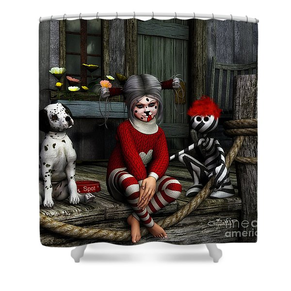 We Are Family Shower Curtain by Jutta Maria Pusl