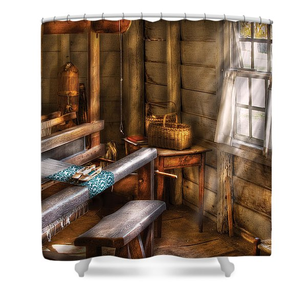 Weaver - The Weavers Room Shower Curtain by Mike Savad