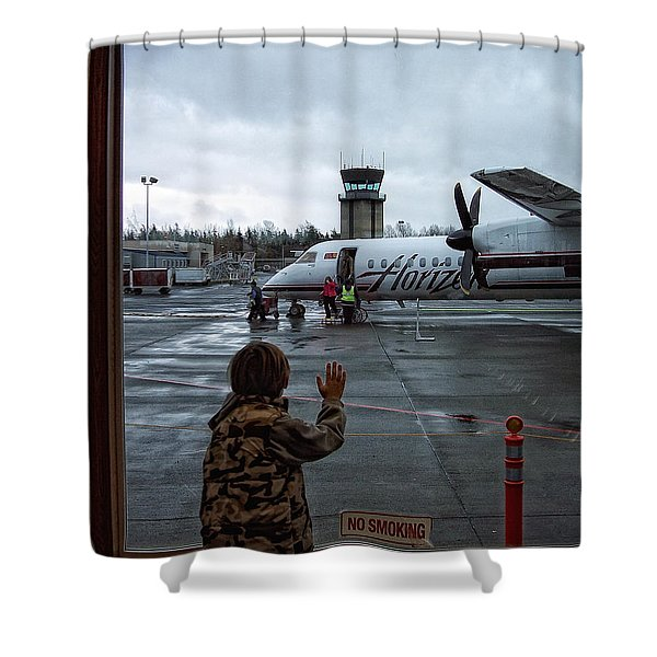 Welcome Home Shower Curtain by Donna Blackhall