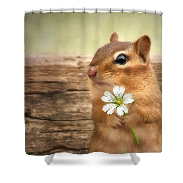 Welcome Spring Shower Curtain by Lori Deiter