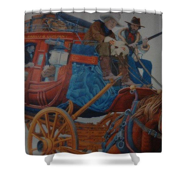 Wells Fargo Stagecoach Shower Curtain by Rob Hans