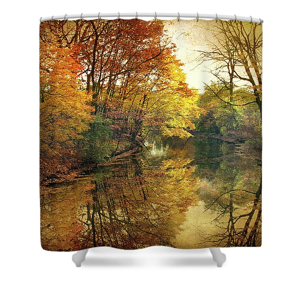 What Remains Shower Curtain by Jessica Jenney