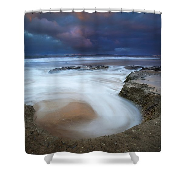Whirlpool Dawn Shower Curtain by Mike  Dawson