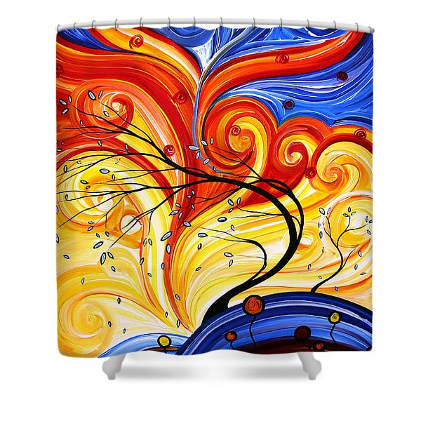 Whirlwind by MADART Shower Curtain by Megan Duncanson