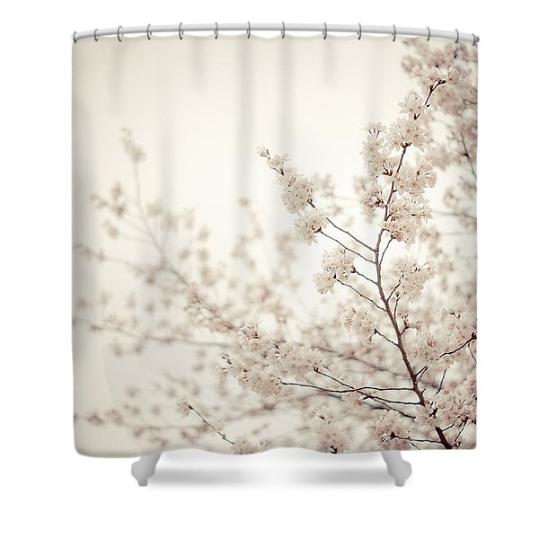 Whisper - Spring Blossoms - Central Park Shower Curtain by Vivienne Gucwa