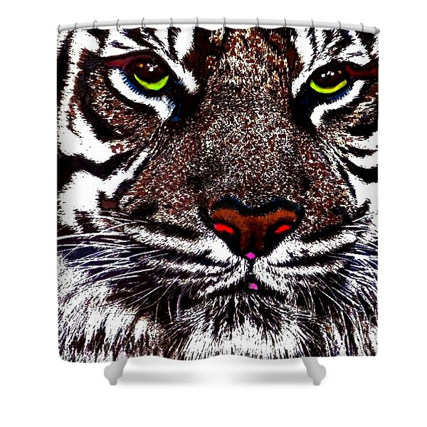 White Bengal Shower Curtain by WBK