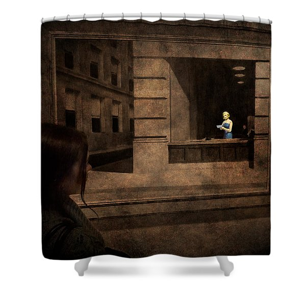 Why Is She Looking At Me Shower Curtain by Loriental Photography