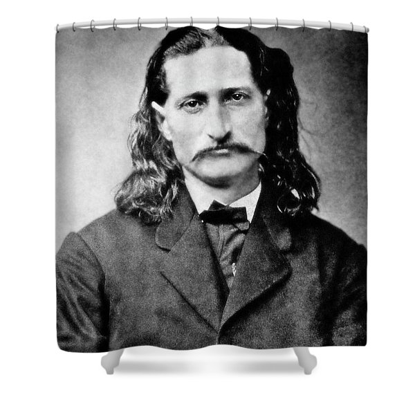 WILD BILL HICKOK - AMERICAN GUNFIGHTER LEGEND Shower Curtain by Daniel Hagerman