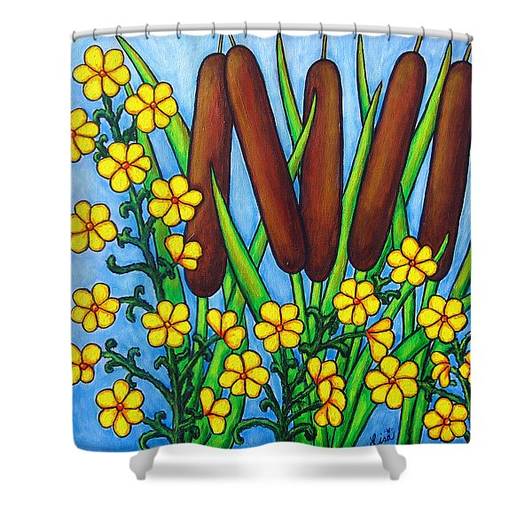 Wild Medley Shower Curtain by Lisa  Lorenz