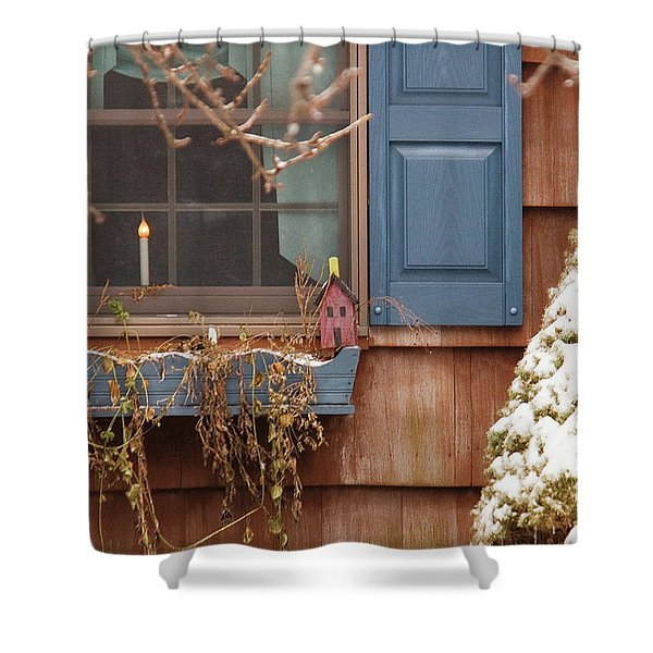 Winter - A Winters Morning Shower Curtain by Mike Savad