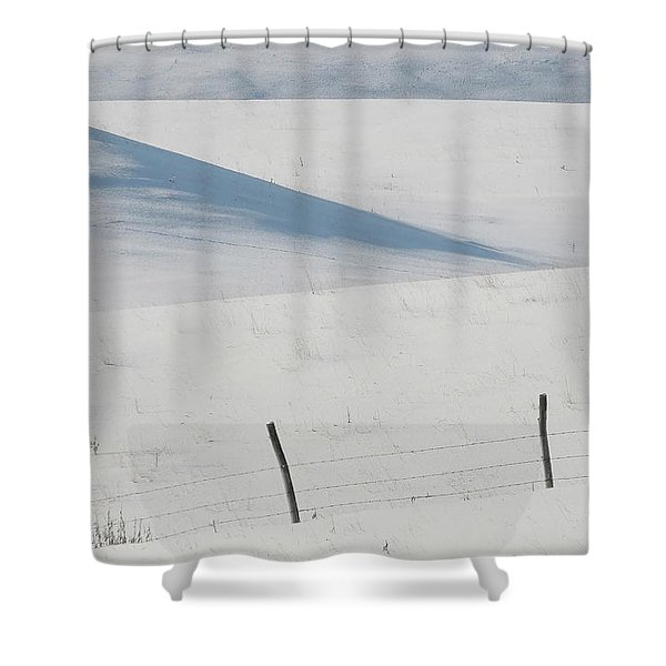 Winter day on the Prairies Shower Curtain by Mark Duffy
