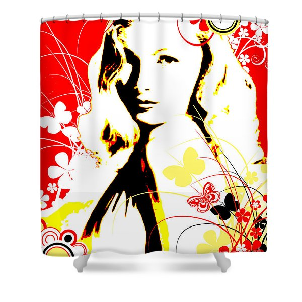Wistful Flutter Shower Curtain by Chris Andruskiewicz