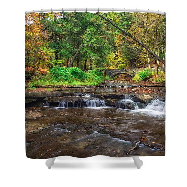 Wolf Creek Shower Curtain by Mark Papke