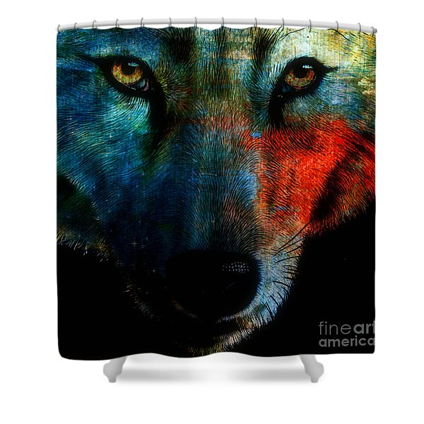 Wolf Sky Shower Curtain by WBK