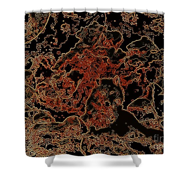 Wolf Tapestry Shower Curtain by WBK