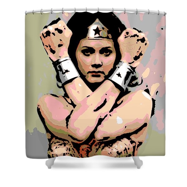 Wonder Woman Shower Curtain by George Pedro