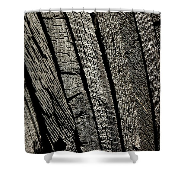 Wooden Water Wheel Shower Curtain by LeeAnn McLaneGoetz McLaneGoetzStudioLLCcom