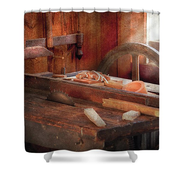 Woodworker - The Table Saw Shower Curtain by Mike Savad