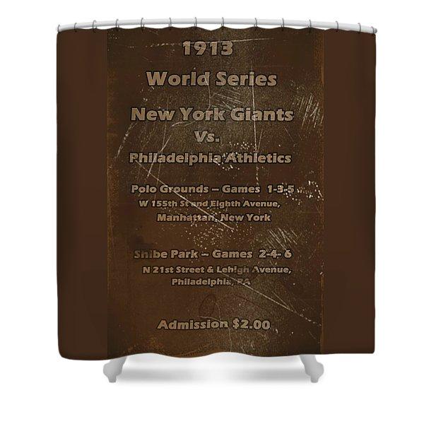 World Series 1913 Shower Curtain by David Dehner