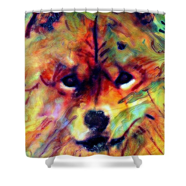 Year Of The Dog Shower Curtain by WBK