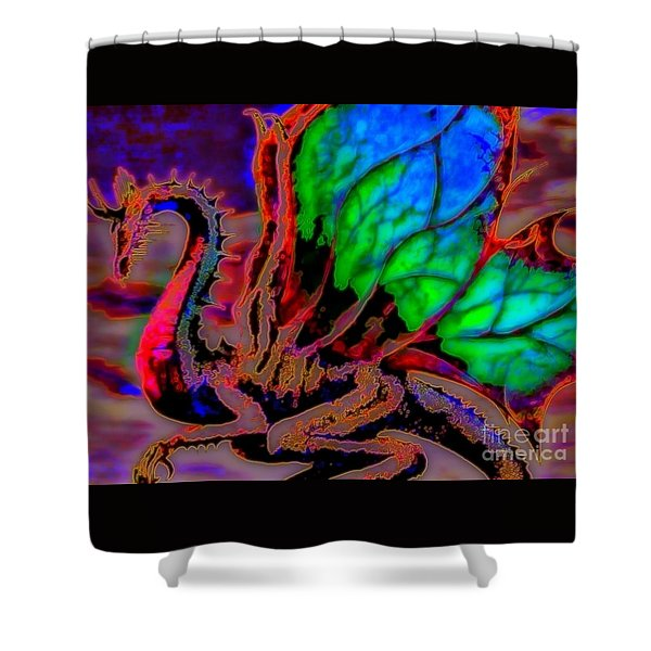 Year Of the Dragon Shower Curtain by WBK