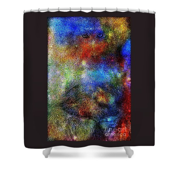Year Of The Monkey Shower Curtain by WBK
