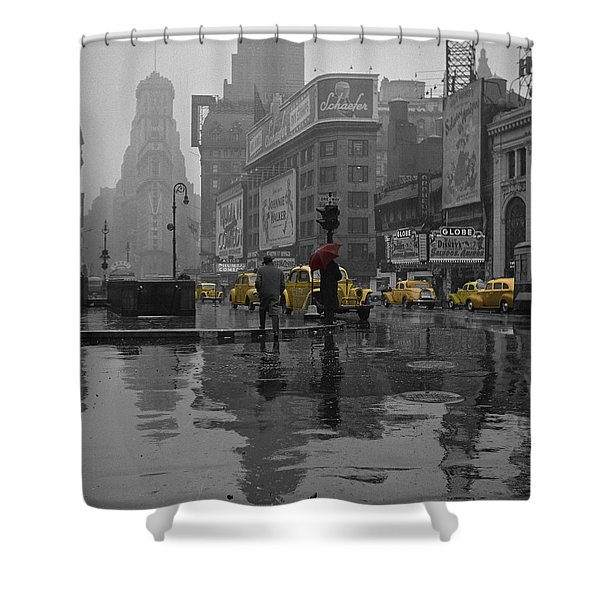 Yellow Cabs New York Shower Curtain by Andrew Fare