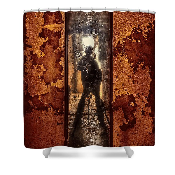 You Shot A Hole In My Soul Shower Curtain by Evelina Kremsdorf