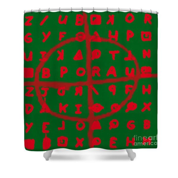 Zodiac Killer Code and SIgn 20130213 Shower Curtain by Wingsdomain Art and Photography