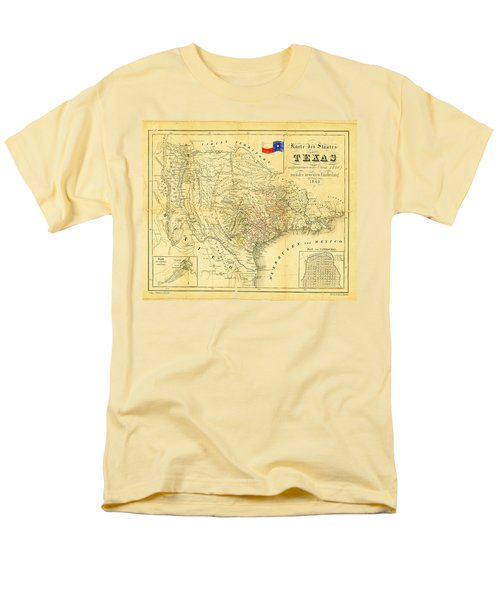 1849 Texas Map T-Shirt by Digital Reproductions