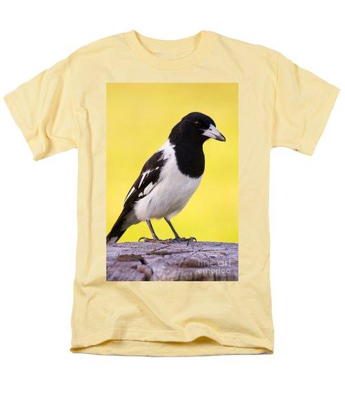 Fencepost Magpie Men's T-Shirt  (Regular Fit) by Jorgo Photography - Wall Art Gallery