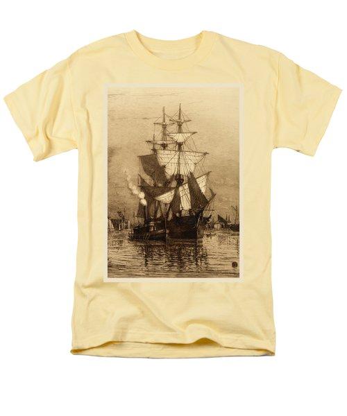 Historic Seaport Schooner T-Shirt by John Stephens
