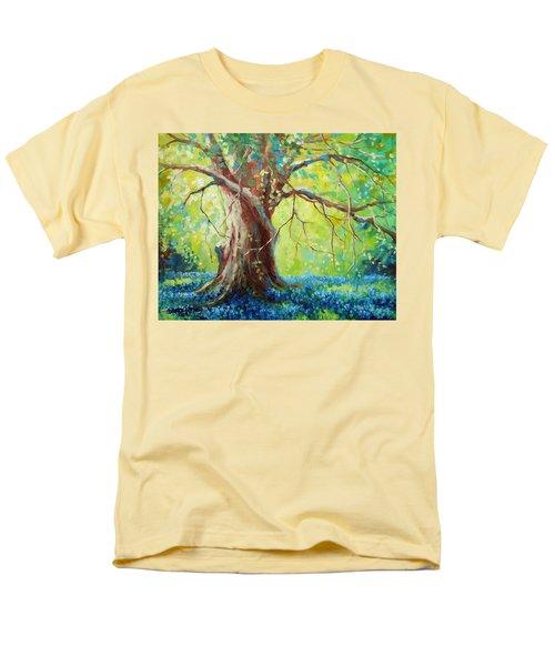 Bluebonnets Under The Oak T-Shirt by David G Paul