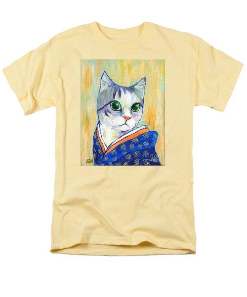 cat in kimono of Ukiyoe style T-Shirt by Jingfen Hwu