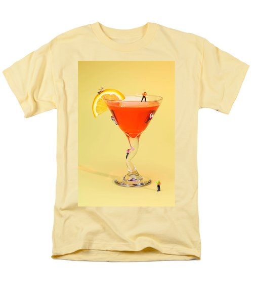 Climbing On Red Wine Cup Men's T-Shirt  (Regular Fit) by Paul Ge