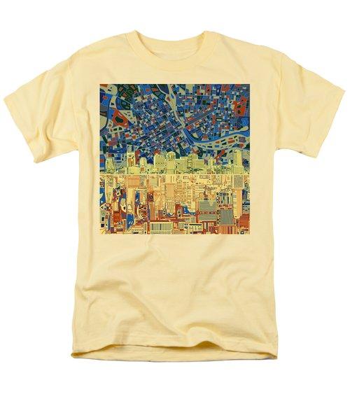 Nashville Skyline Abstract 9 Men's T-Shirt  (Regular Fit) by Bekim Art