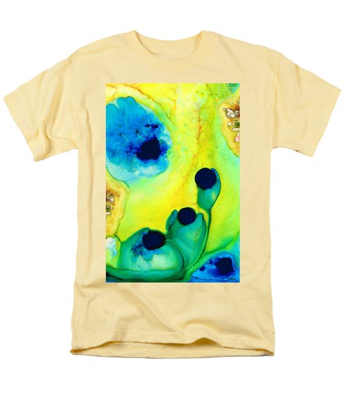 New Life - Green and Blue Art by Sharon Cummings T-Shirt by Sharon Cummings