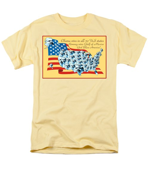 Obama Victory Map America 2012 - Poster T-Shirt by Peter Fine Art Gallery  - Paintings Photos Digital Art