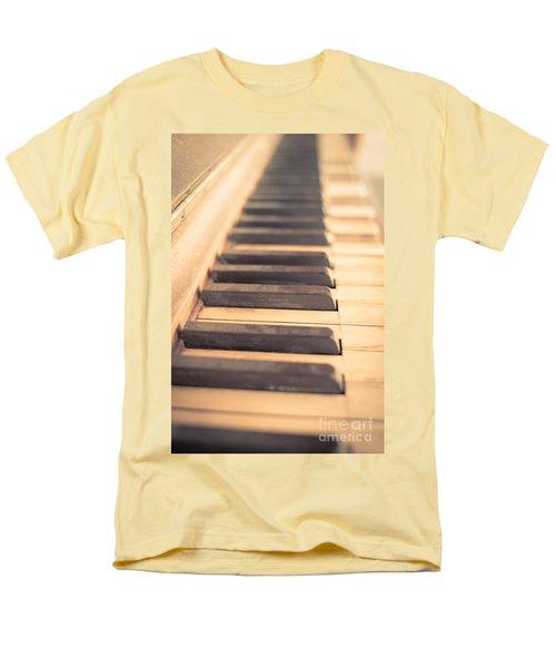 Old Piano Keys T-Shirt by Edward Fielding