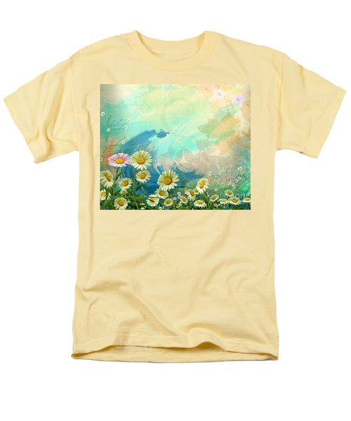 One Pink Daisy T-Shirt by Bedros Awak