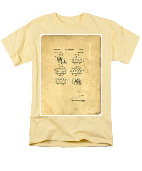 Original Patent for Lego Toy Building Brick T-Shirt by Edward Fielding