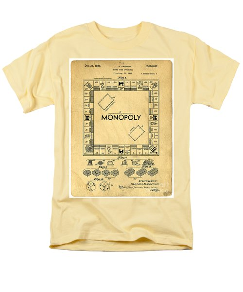Original Patent for Monopoly Board Game T-Shirt by Edward Fielding