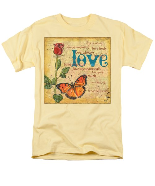 Roses and Butterflies 2 T-Shirt by Debbie DeWitt