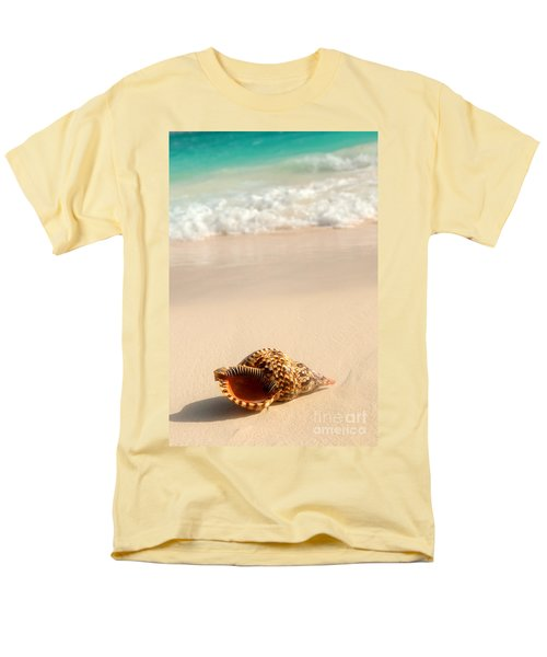 Seashell and ocean wave T-Shirt by Elena Elisseeva