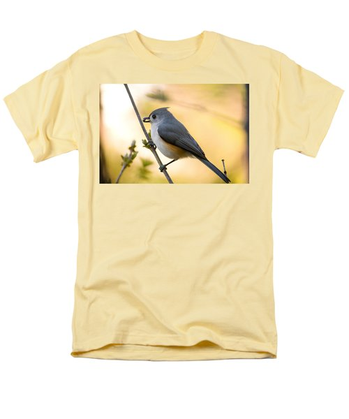Titmouse In Gold Men's T-Shirt  (Regular Fit) by Shane Holsclaw
