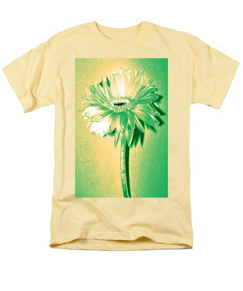 Touch Of Turquoise Zinnia Men's T-Shirt  (Regular Fit) by Sherry Allen